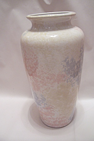 Morris Pottery Pastel Colors Decorated Large Vase