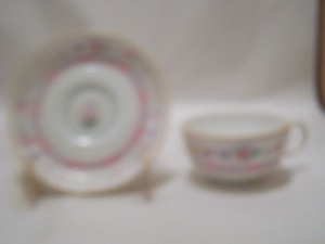 Royal Doulton Urn Pattern China Footed Cup & Saucer