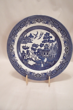 Churchill Willow Pattern Fine China Dinner Plate