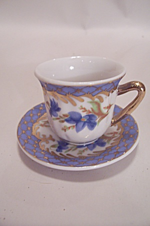 Tiny Decorative Cup & Saucer Set