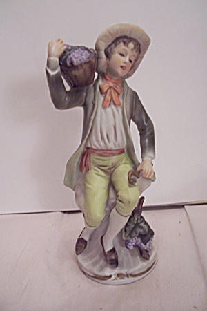 Porcelain Colonial Young Man Figurine