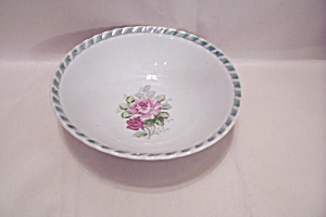 Occupied Japan Red Rose Motif Bowl