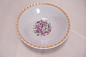 Occupied Japan Rose Motif Bowl