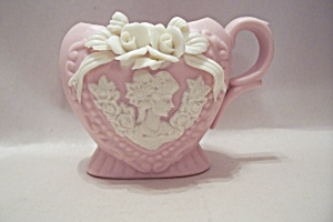 Pink China Cameo Toothpick Holder