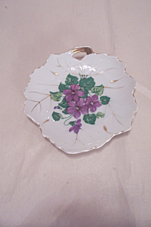 Viceroy China Blue Flower & Gilt Trim Candy Dish