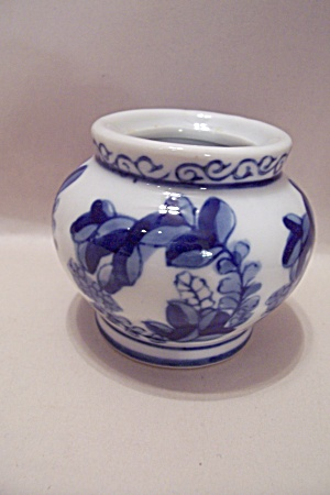 Flow Blue China Bowl Shaped Toothpick Holder (Image1)