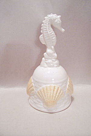 Porcelain Seahorse & Seashell Collectible Bell