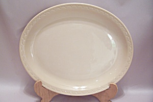 Syracuse Cream Colored Oval China Platter