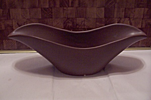 Usa Brown Pottery Elongated Bowl And/or Planter