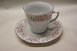 Floral Design Collectible Cup & Saucer