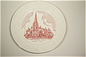 First Methodist Church, Corsicana, Texas Plate (Image1)