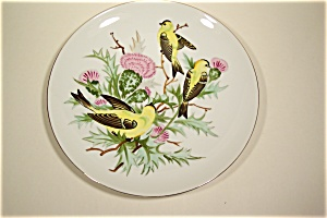 Hand-Painted Birds Collector Plate (Image1)