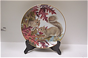 Squirrels Sample The October Harvest Collector Plate