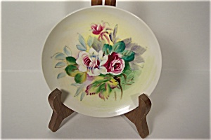 Rose Floral Design Collector Plate