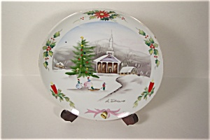 Handpainted Christmas Collector Plate