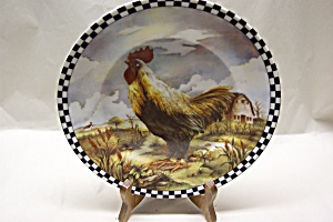 Rooster Collector Plate