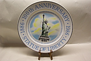 100th Anniversary of Statue of Liberty Collector Plate (Image1)