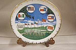 Six Flags Over Texas Collector Plate