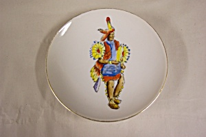 Hand-Painted Indian Collector Plate (Image1)