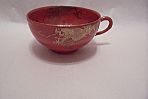 Occupied Japan Dragon Ware Orange Teacup