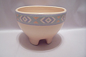 Southwestern Style Footed Pottery Bowl (Image1)