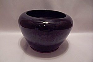 Frankoma Black Pottery Bowl