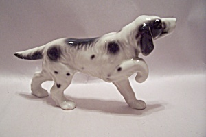 Porcelain English Pointer Dog Figurine