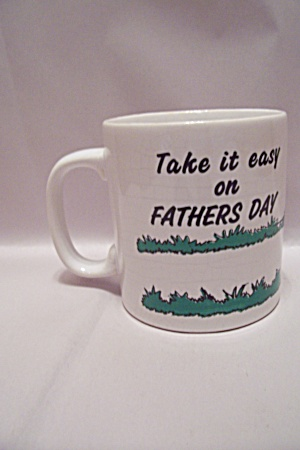 Porcelain Father's Day White Mug