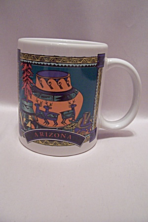 Arizona Souvenir Porcelain White Decorated Mug