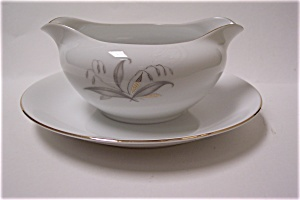 Kaysons Golden Rhapsody Fine China Gravy Boat