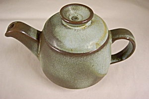 Frankoma Light Blue/brown Teapot