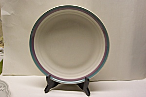 Pfaltzgraff Pink/Turquoise Rim Plate (Image1)