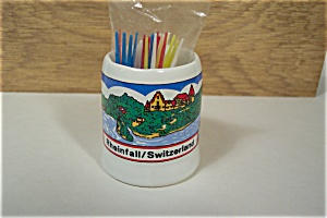 Rheinfall, Switzerland  Souvenir Toothpick Holder (Image1)