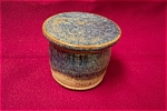 Click here to enlarge image and see more about item ASP0001: Artist Handmade Two-Piece Butter  Cup/Pot