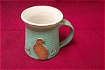 Click here to enlarge image and see more about item ASP0005: Artist Handmade Mug With Quail Design