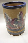 Click here to enlarge image and see more about item AUSP0011: Artist Pottery Cache Pot Or Vase