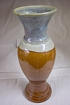 Brown Glazed Art Pottery Vase