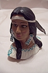 Click here to enlarge image and see more about item BG00006: Native American Woman Bust
