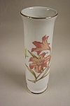 Click here to enlarge image and see more about item BG00014: Japanese Satsuma Iris Bud Vase