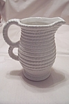 Vintage Italian White Porcelain Pitcher