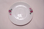 Click here to enlarge image and see more about item BG00051: Occupied Japan Rose Pattern Saucer