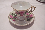 Click here to enlarge image and see more about item BG00052: Elegant Occupied Japan Cup & Saucer