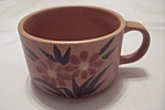 Click here to enlarge image and see more about item BG00055: Hand-Painted Pottery Soup Mugs