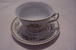 Click here to enlarge image and see more about item BG00063: Taiko Floral Pattern Porcelain Cup & Saucer