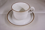 Click here to enlarge image and see more about item BG00070: Nitto Heather Stone Ware Cup & Saucer