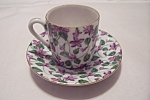 Click here to enlarge image and see more about item BG00082: Lefton Demitasse Cup & Saucer
