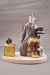 "Click to view larger image of Norman Rockwell ""Self Portrait"" Figurine (Image1)"