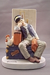 "Click here to enlarge image and see more about item BG00099: Norman Rockwell ""Asleep On The Job"" Figurine"