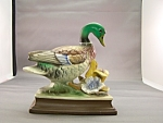 Click here to enlarge image and see more about item BG00110: Mallard Duck Porcelain Figurine