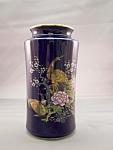 Cobalt Blue Porcelain Crane Vase